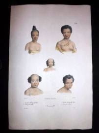 d'Urville 1835 Folio Hand Col Print. Natives of Tonga, Pacific